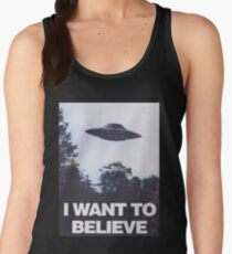 The X-Files I Want To Believe Women's Tank Top