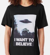 Les X-Files que je veux croire T-shirt ajusté