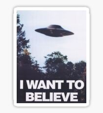 The X-Files I Want To Believe Sticker