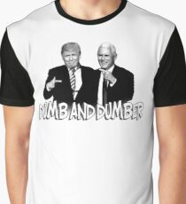 Trump Pence Dumb And Dumber Graphic T-Shirt