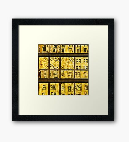 Glass Puzzle Framed Print