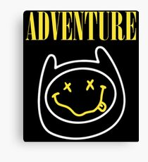 Adventure Time - Nirvana Mashup Canvas Print