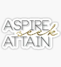 Aspire Seek Attain Sticker