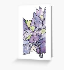 Double Lilac  Greeting Card