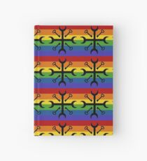 Rainbow Cross Road Keys Hardcover Journal