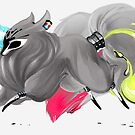 CMYK Ink Brush Fox by Lorinda Tomko