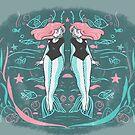 Double mermaid by vannesaco
