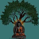 Buddha under Bodhi Tree by ramanandr