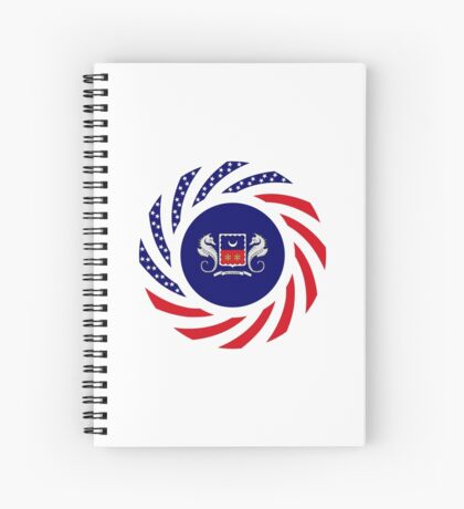 Mahorai American Multinational Patriot Flag Series Spiral Notebook