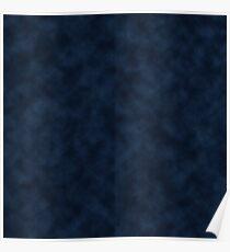 Blue Velvet Texture  Poster
