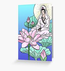 Kuan Yin in the Lotus Greeting Card