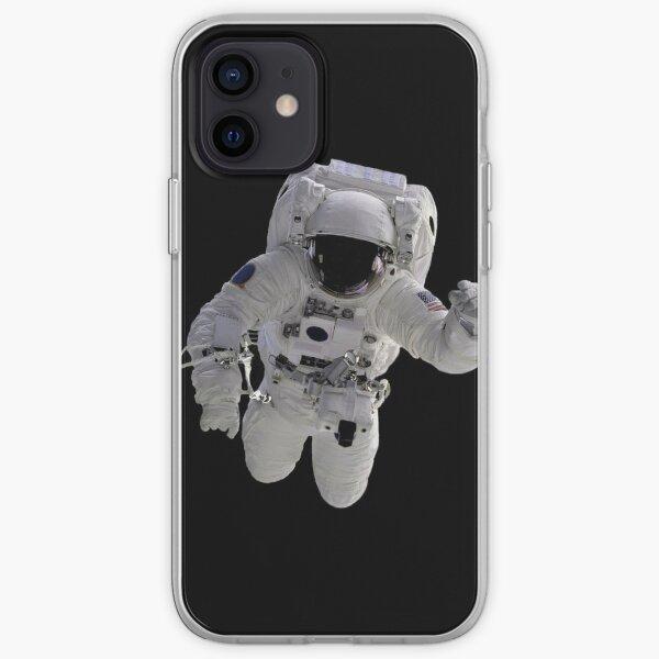 Astronaut on Black iPhone Soft Case