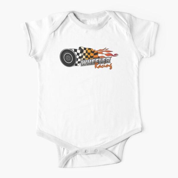 Upper Middle Bogan - Wheeler Racing 3 Short Sleeve Baby One-Piece