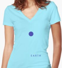 Planet: Earth Women's Fitted V-Neck T-Shirt