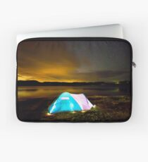 Tent by lake under stars Laptop Sleeve