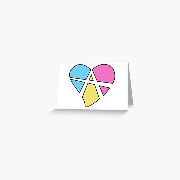 Relationship Anarchy Symbol Greeting Card