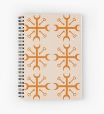Orange Crossroad Keys II Spiral Notebook