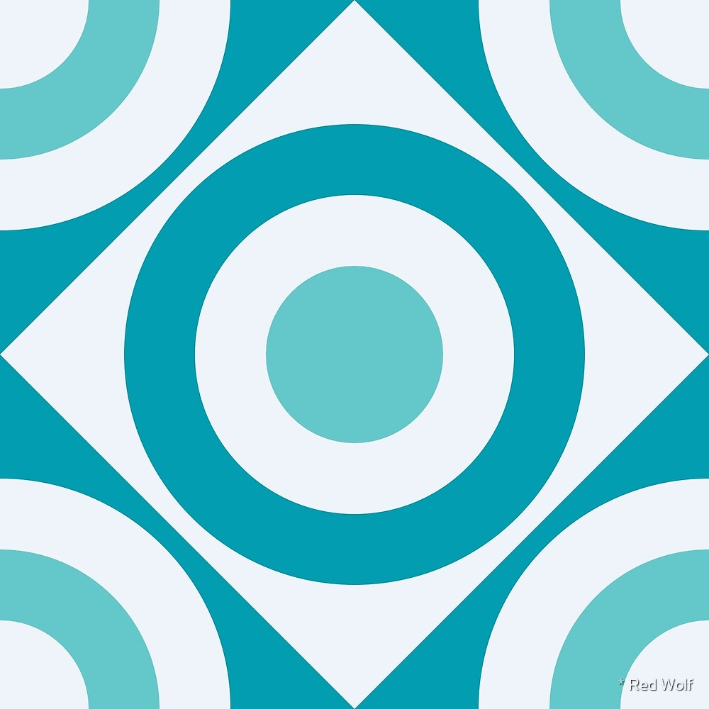 Geometric Pattern: Rondel Diamond: Pacifica by * Red Wolf
