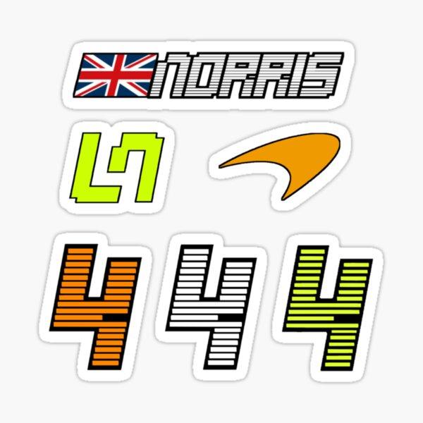 Lando Norris 4 - 2021 Personnalisé ORANGE Sticker