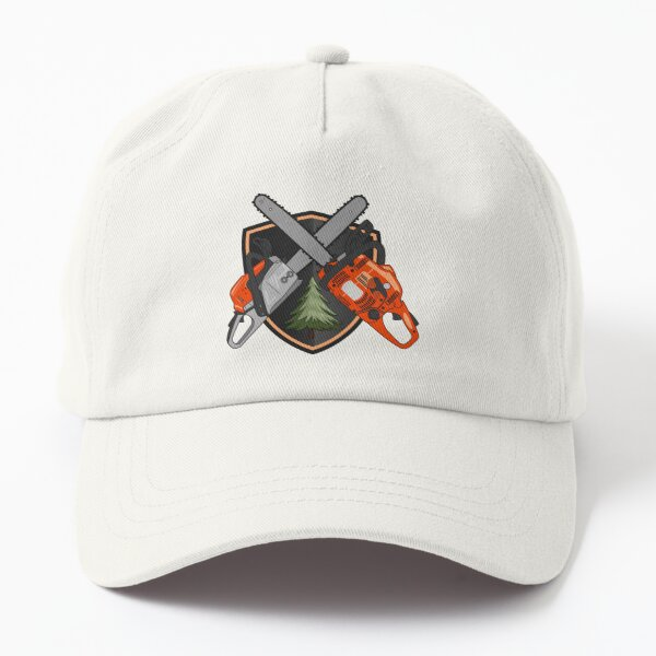 Shield with Chainsaws Dad Hat