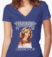 Xanadu - Olivia Newton-John  Women's Fitted V-Neck T-Shirt