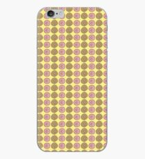 Iced Pink Donut and Sugar Donut on Lemon Hand Painted Watercolor iPhone Case