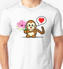 Flower Monkey Love Unisex T-Shirt