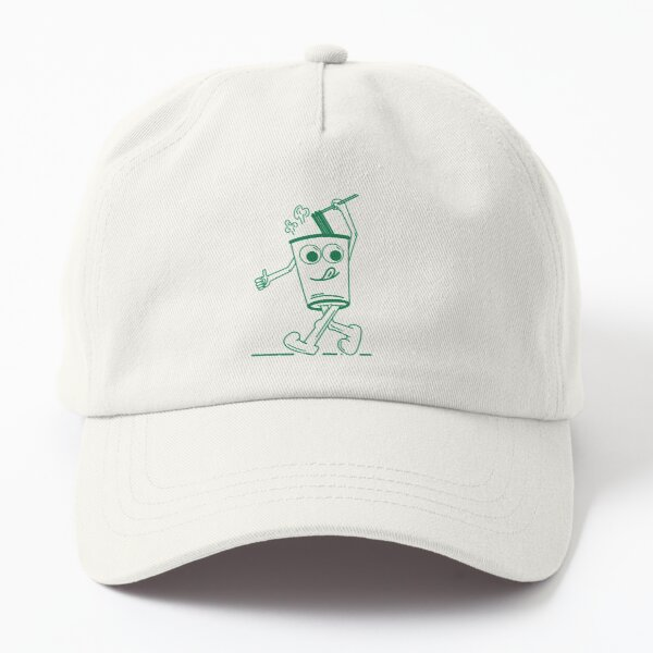 Cup of noodles in green Dad Hat