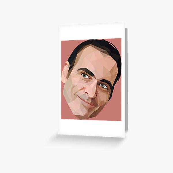 Joaquin Phoenix low poly 2d art Greeting Card