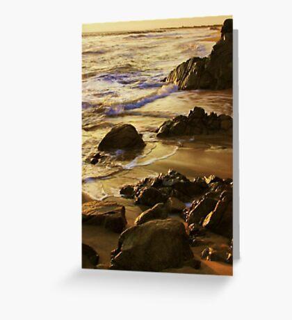 On Golden Sands Greeting Card