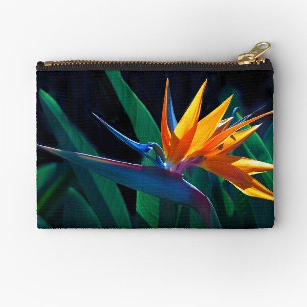 Bird of Paradise flower (Strelitzia nicolai) Zipper Pouch