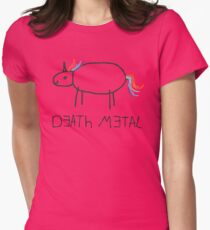 Death Metal Unicorn (Crayon) T-Shirt