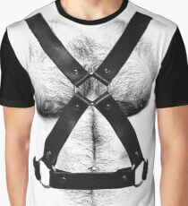 LEATHER HAIRY CHEST Graphic T-Shirt