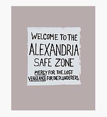 Safe Zone Photographic Print