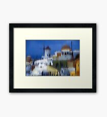 symphony in white and blue II Framed Print