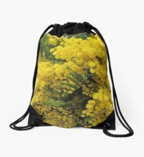Golden Wattle - Floral Emblem of Australia Drawstring Bag