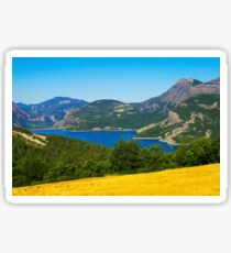 Mountains, forest and lake Sticker