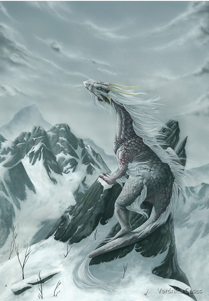 Quot Winter Dragon Quot By Ver 243 Nica Casas Redbubble