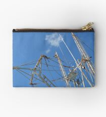 Fishing Boat at Potter's Cay in Nassau, The Bahamas Studio Pouch