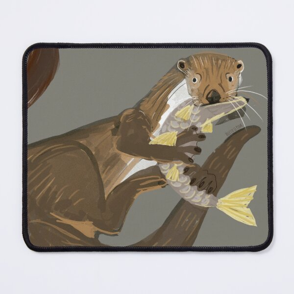 Old World otters Mouse Pad