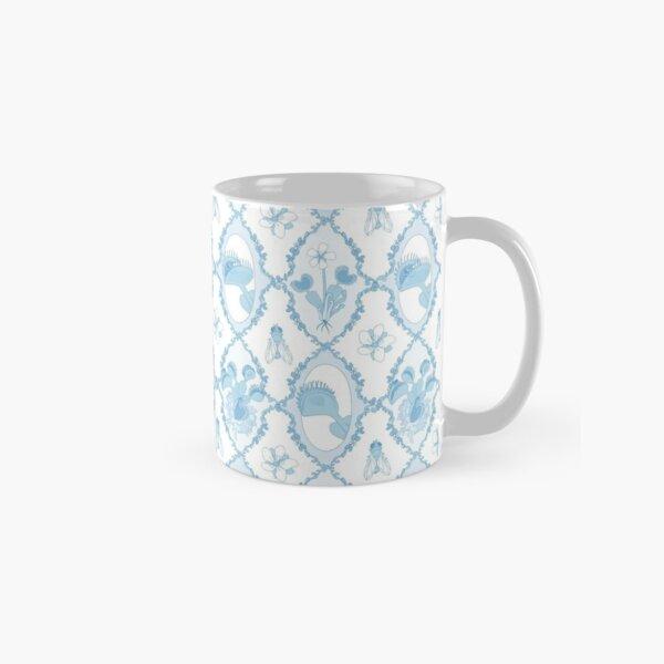Venus Flytrap Motif in China Blue Classic Mug