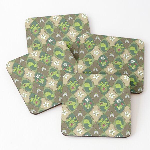 Venus Flytrap Motif Coasters (Set of 4)