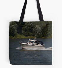 Small Cabin Cruiser Tote Bag