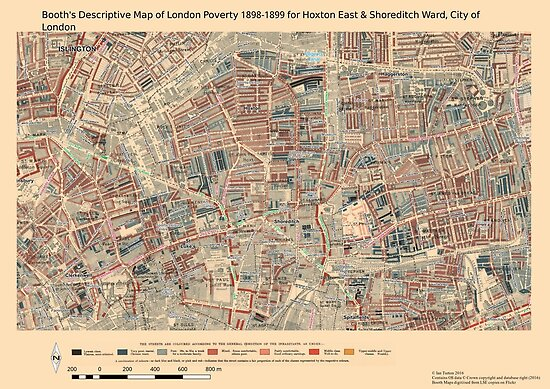 Booth S Map Of London Poverty For Hoxton East Shoreditch Ward