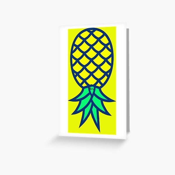 Upside Down Pineapple Swinger Symbol with Partners ID Swinger Logo, Swinger Pendant Greeting Card