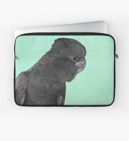 Portrait of a Red-tailed Black Cockatoo Laptop Sleeve