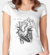 The Heart Women's Fitted Scoop T-Shirt