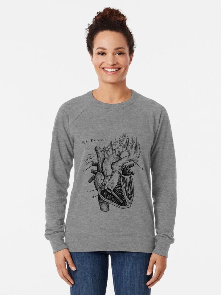 Alternative Ansicht von das Herz Leichter Pullover