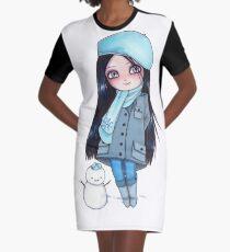 Kekita invierno Graphic T-Shirt Dress