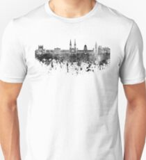 Belfast skyline in black watercolor on white background Unisex T-Shirt